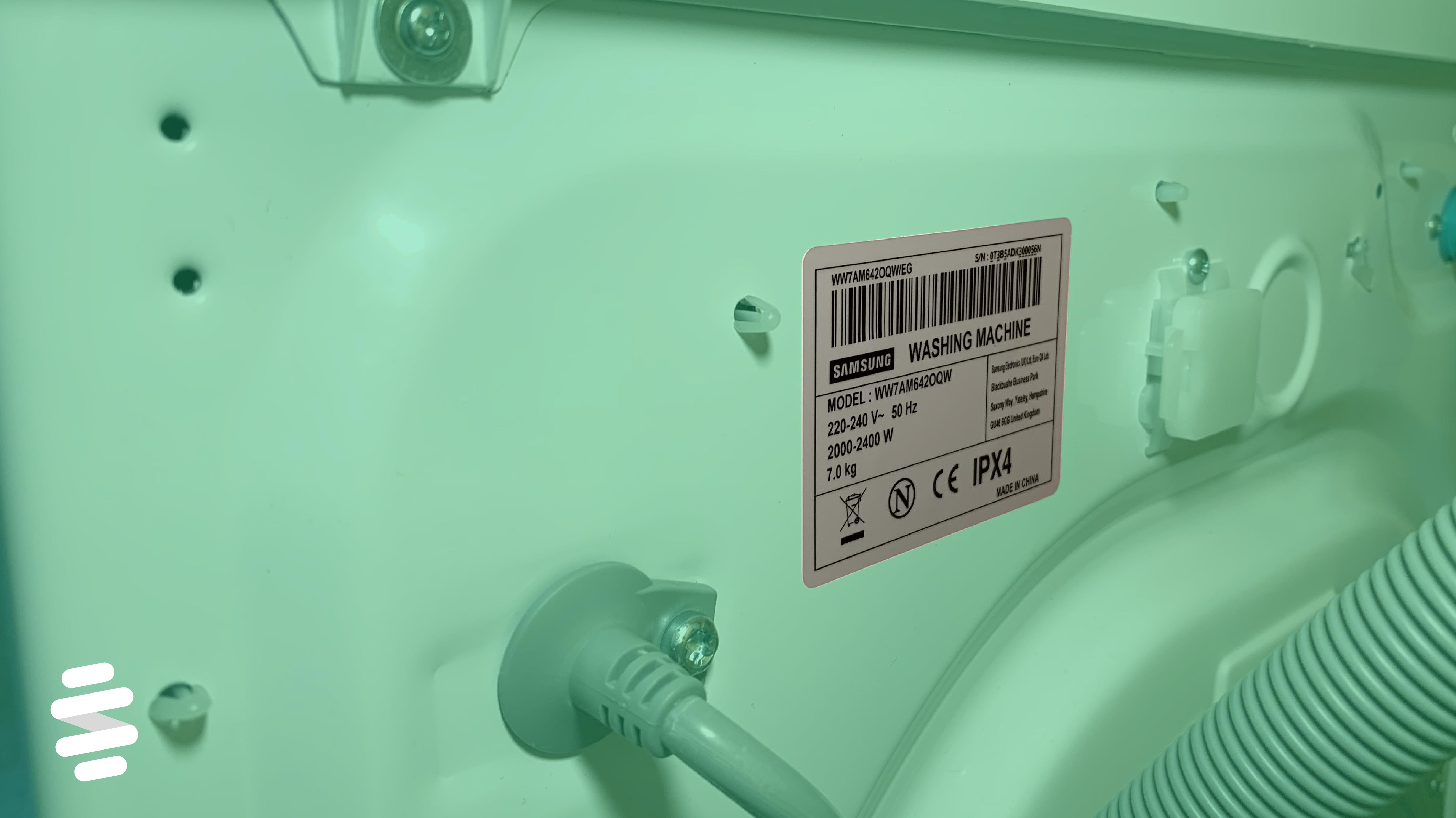 Typenschild Waschmaschine finden